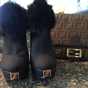 Famous FF Fur Booties